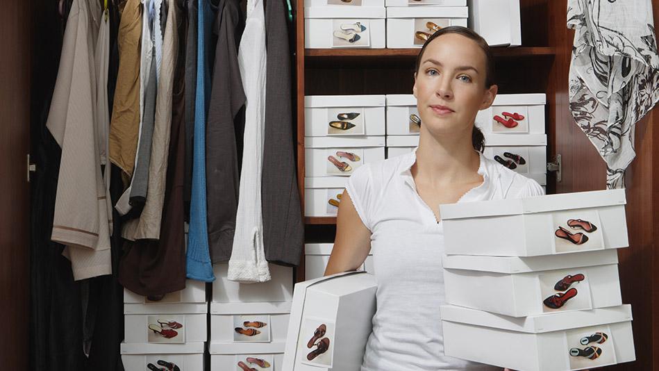 Organize your closet clutter.