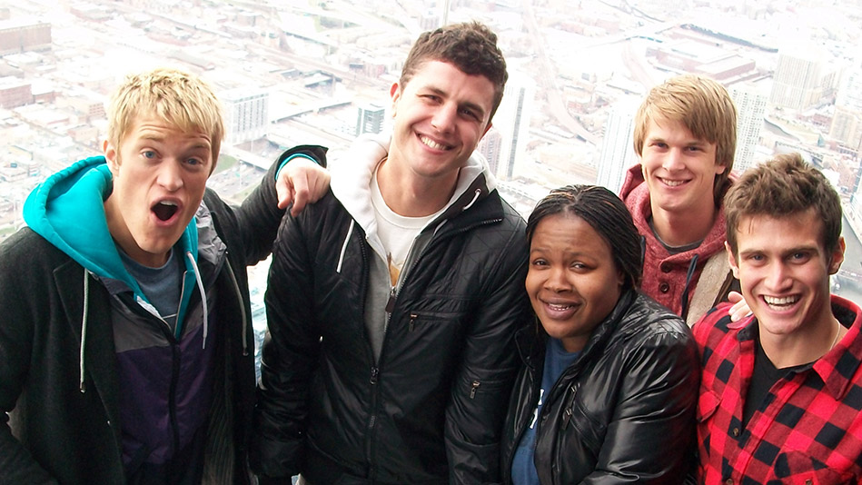 Tameka and the stars of The Buried Life