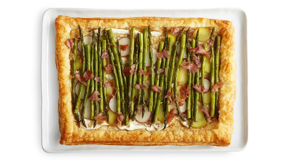Asparagus and Parmesan Tart Recipe