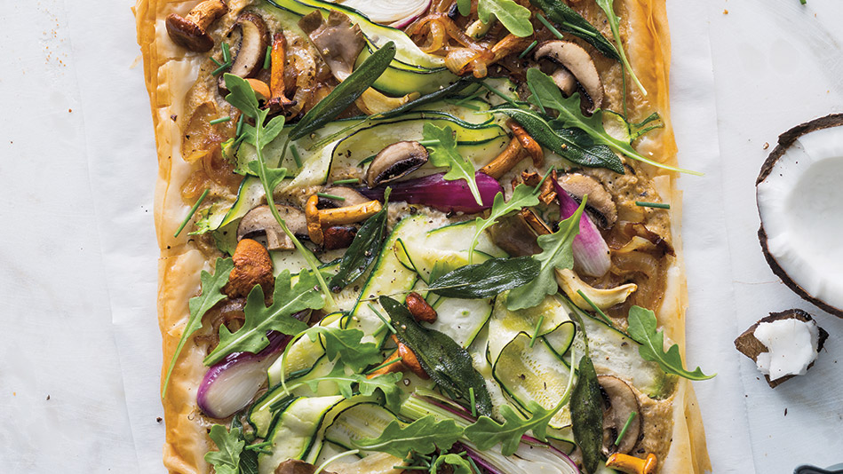 Green Bean, Mushroom And Caramelized Onion Tart Recipes — Dishmaps