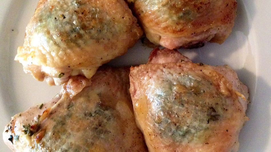 Crispy Herbed Chicken Thighs