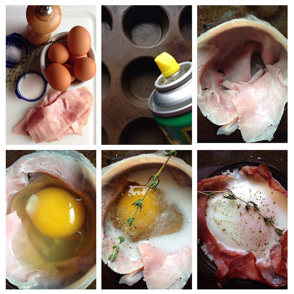Step by step recipes with pictures easy dinner recipes baked eggs in ham baskets forumfinder