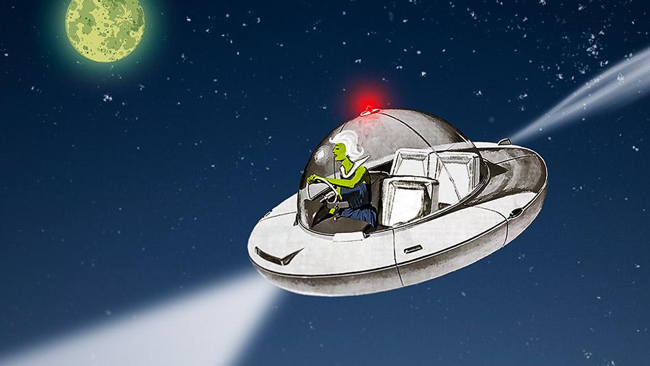 George Saunders Alien Illustration
