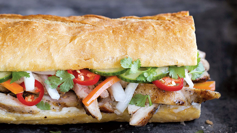 Sandwich recipes the worlds best sandwiches master banh mi with hanoi grilled chicken forumfinder Image collections