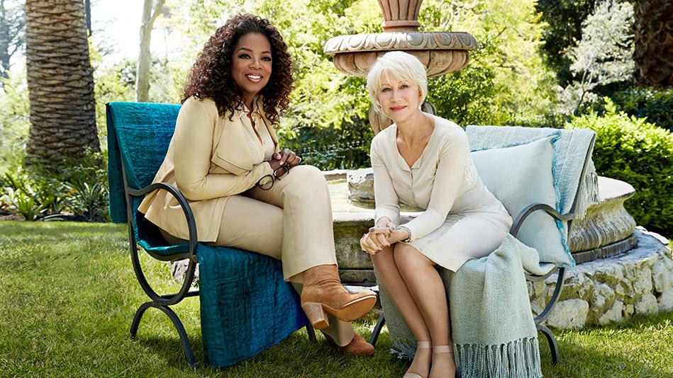 Oprah Winfrey and Helen Mirren