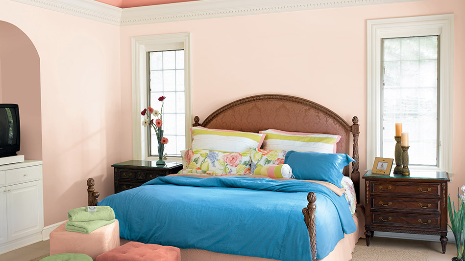 Pink bedroom The Best Bedroom Paint Colors