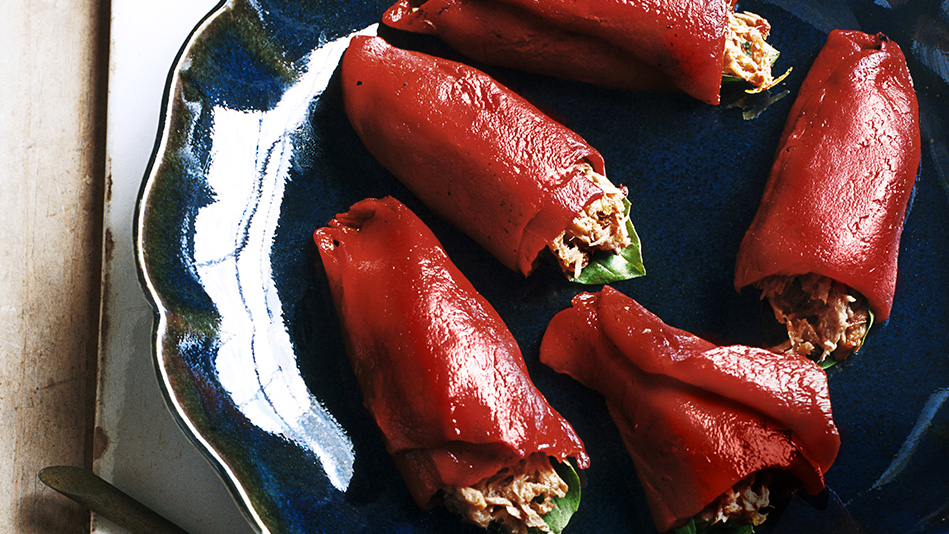 Piquillo Peppers with Mediterranean Tuna Salad