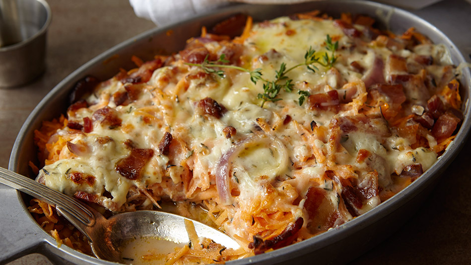 Chicken, Sweet Potato and Bacon Casserole