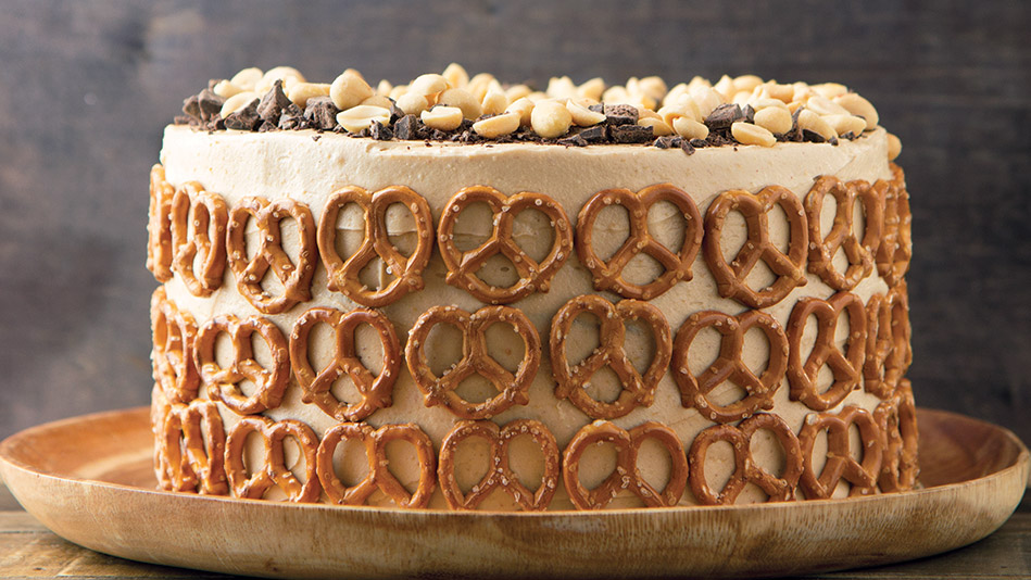 Chocolate-Peanut Butter Pretzel Layer Cake