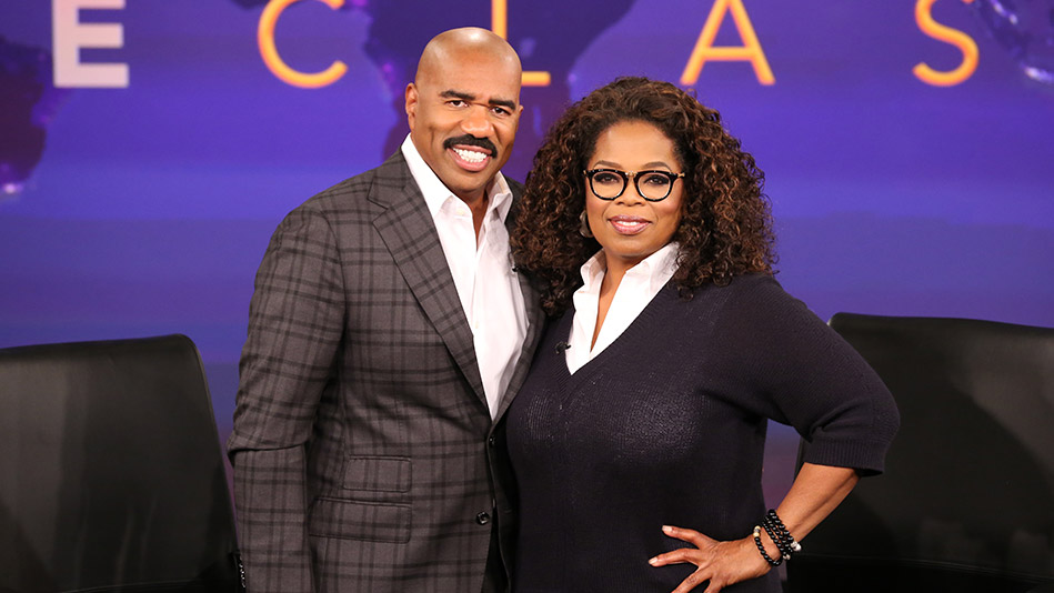 Steve Harvey and Oprah Winfrey