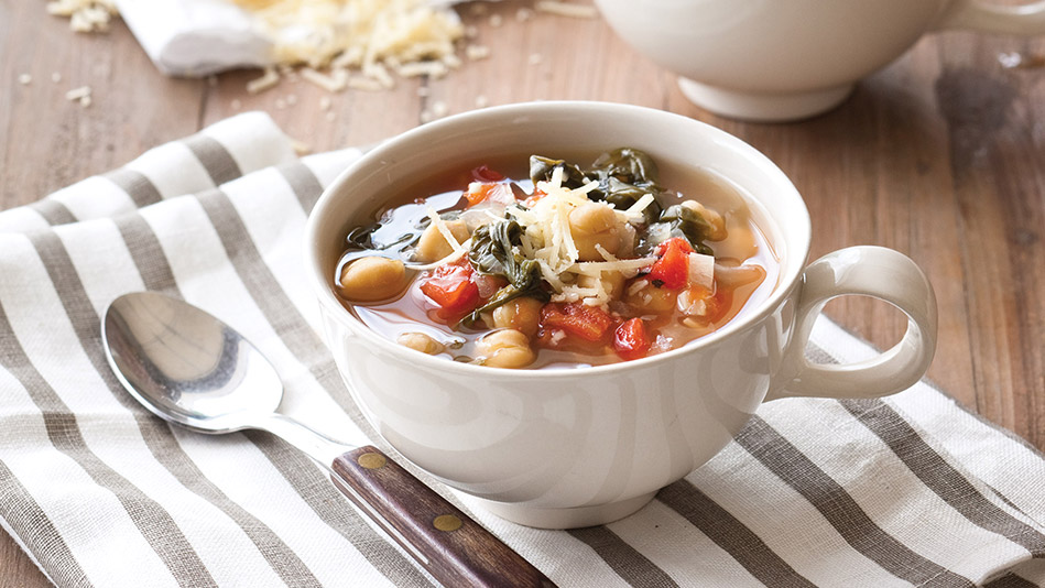 Garbanzo Bean and Spinach Soup Recipe