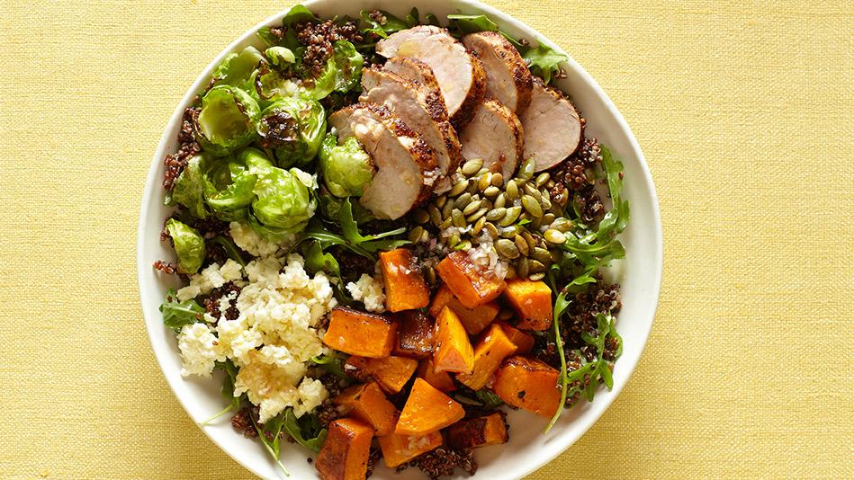 Curtis Stone's Quinoa Bowl with Pork Tenderloin and Butternut Squash Recipe