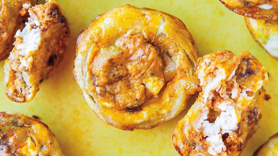 Parmesan and Cream Cheese Pumpkin Puffs