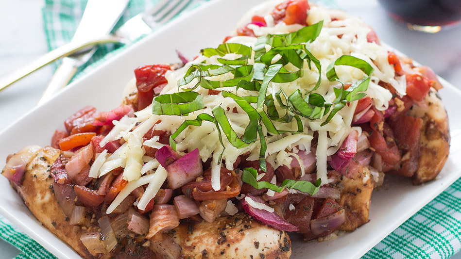 Slow-Cooker Balsamic Chicken Caprese