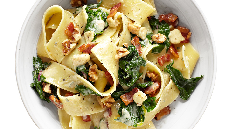 Creamy Pappardelle With Leeks And Bacon Recipes — Dishmaps