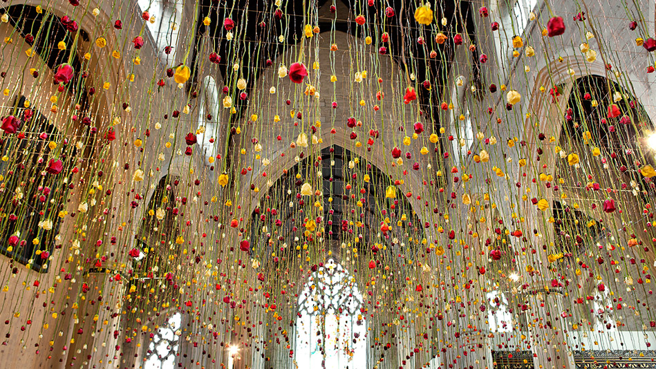 Rebecca Louise Law flower art installation in London