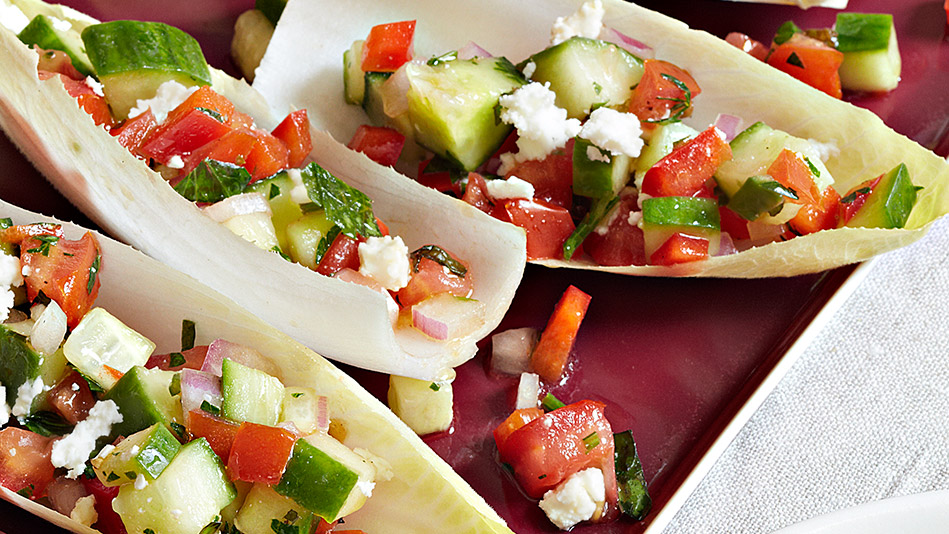 Mini Greek Salad Boats