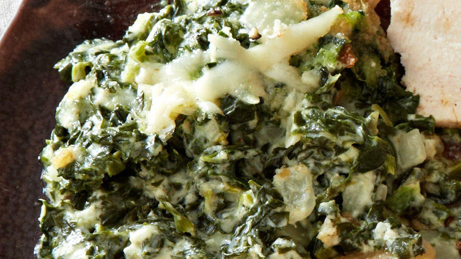 Creamed Spinach Gratin