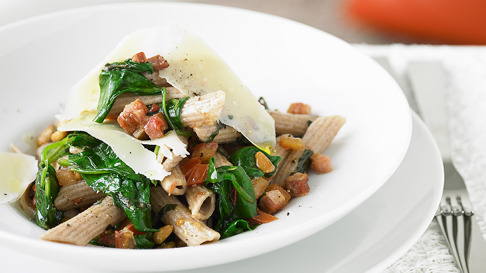 Whole Wheat Penne with Sausage and Broccoli Rabe