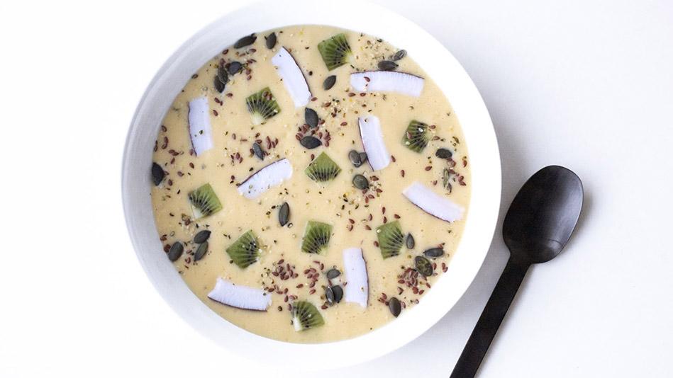 Mango Smoothie Bowl with Kiwi and Coconut Recipe