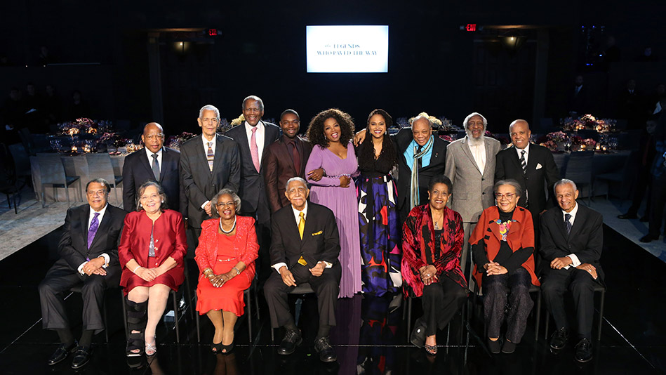 """Oprah Winfrey and """"Legends"""" honorees"""