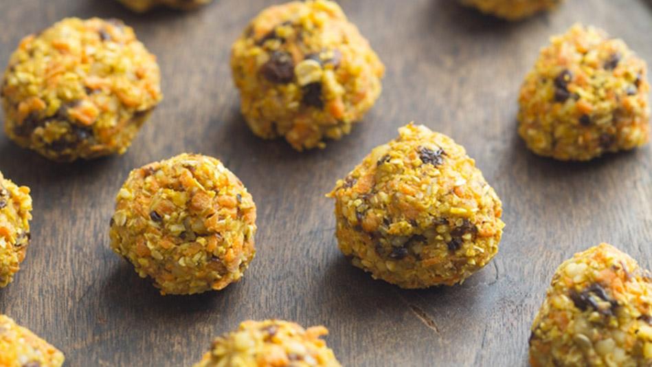 Carrot-Raisin Cookie Bites