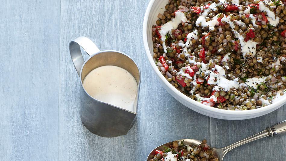 Lentil and Roasted Red Pepper Salad