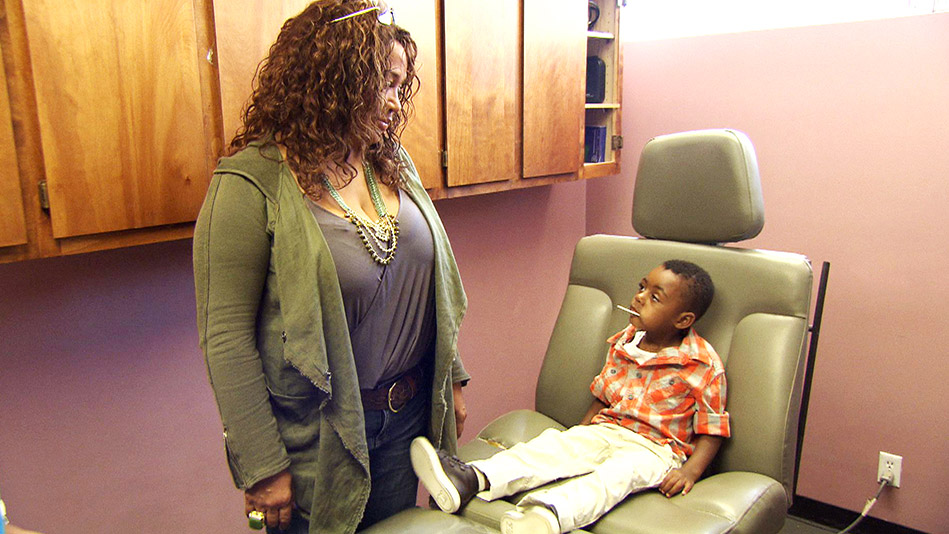 Joshua's a Good Sport at the Doctor's Office