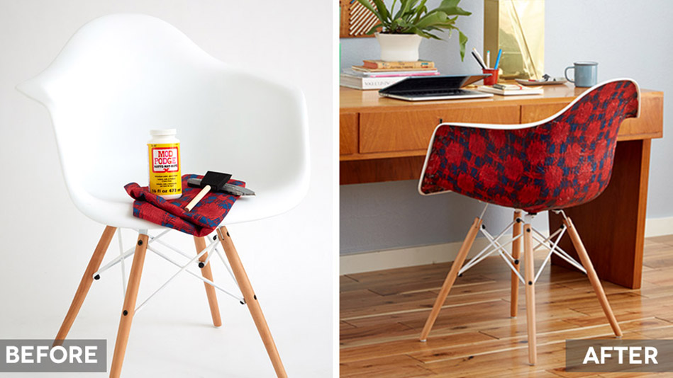 Mod Podge Plastic Chair Furniture Upgrade