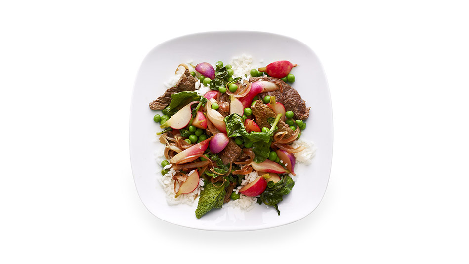 Beef Stir-Fry with Radishes and Peas Recipe