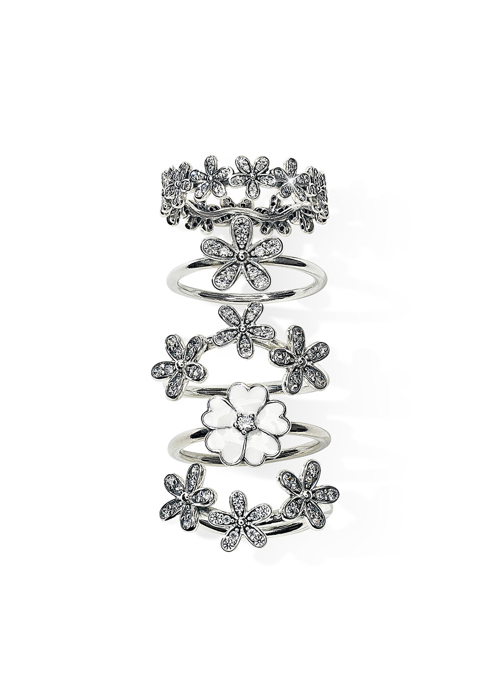 b97d02c6c ... new arrivals pandora rings dazzling daisy pandora daisy stacking ring  4759f 44641