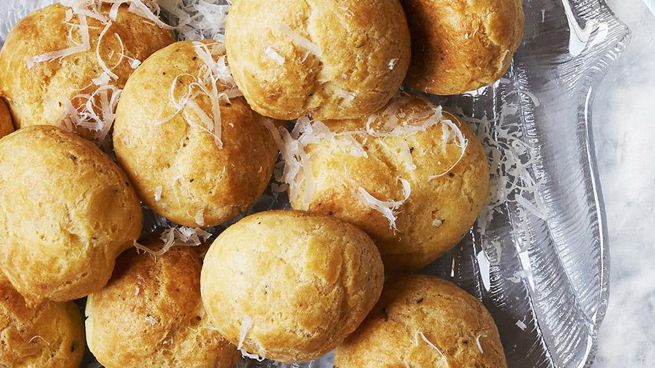 Curtis Stone Artichoke Stuffed Gougeres Recipe