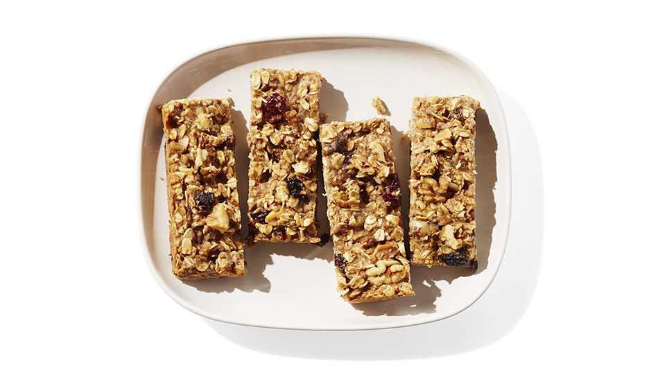 Oatmeal, Walnut and Banana Bars
