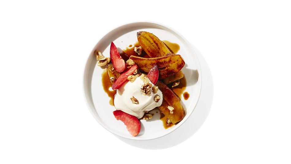 Pan-Roasted Bananas in Coffee-Maple Syrup with Yogurt ...