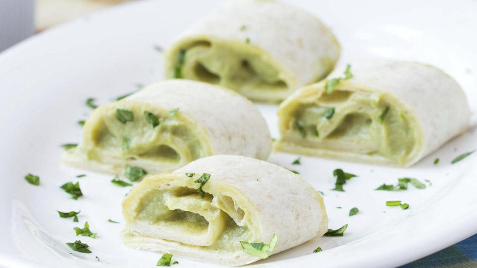 Avocado Tatziki Rollups