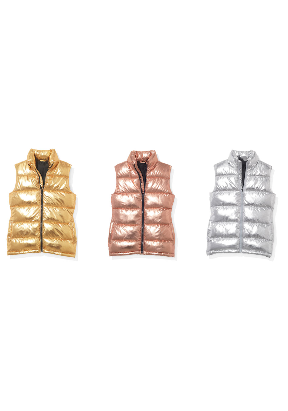 Metallic Puffer Vests