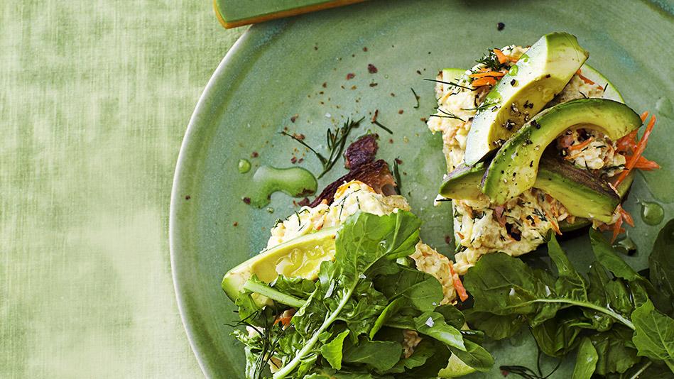 Chickpea Salad Toasts Recipe