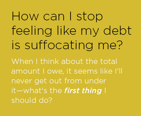 how to get out of debt and start saving money
