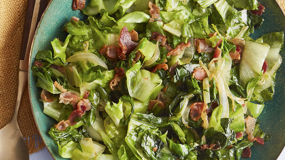 wilted salad greens recipe