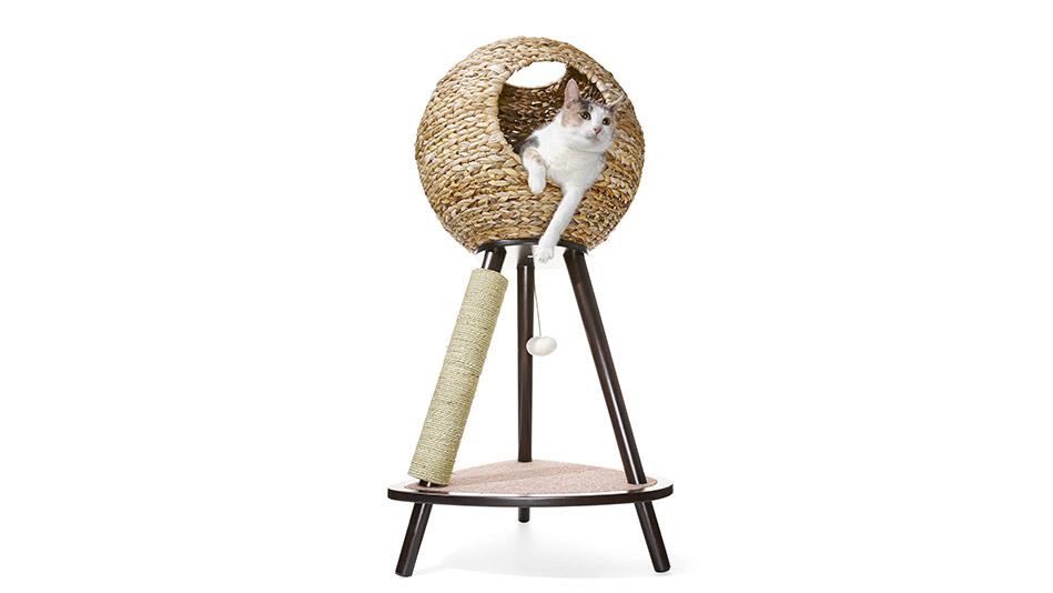 natural sphere cat tower