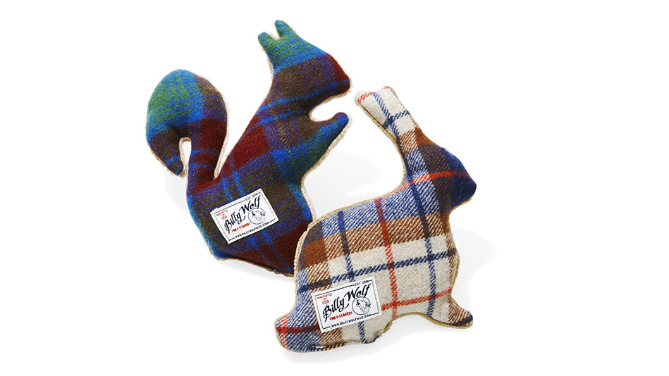 billy wolf squirrel and cottontail squeaky toys