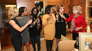 Oprah Toasts the Ladies of <em>The View</em>