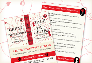 Oprah's Book Club Great Expectations and A Tale of Two Cities by Charles Dickens bookmark