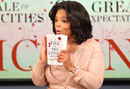 Oprah announcing her 65th book club picks A Tale of Two Cities and Great Expectations