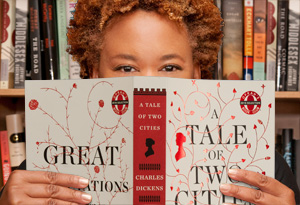 Oprah's Book Club producer Jill reading Great Expectations and A Tale of Two Cities