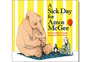 A Sick Day for Amos, illustrated by Erin E. Stead, written by Philip C. Stead