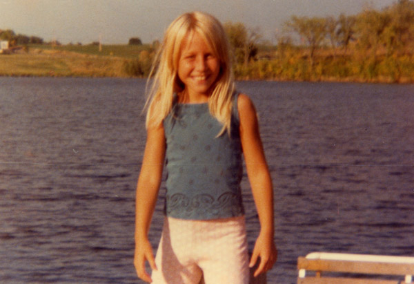 Cheryl Strayed at 8 years old