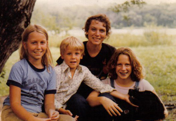 Cheryl Strayed and her brother, Leif, and sister, Karen