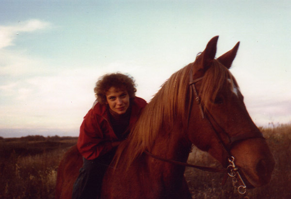 Cheryl Strayed's mother and her horse, Lady