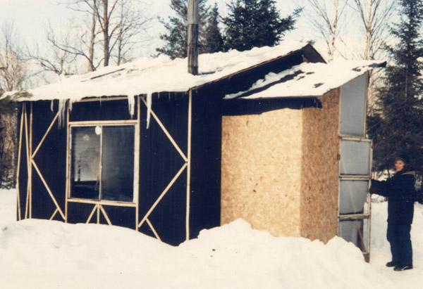 Tar paper shack